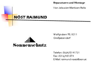 Visitenkarte Nöst Raimund